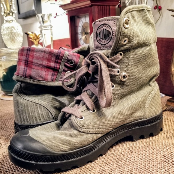 Mens Palladium Baggy Canvas Boots